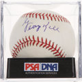 Autographs:Baseballs, George Kell Single Signed Baseball PSA NM-MT 8....