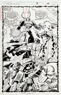 Original Comic Art:Splash Pages, Manny Galan and Jim Amash Transformers: Generation 2 #8Splash page 14 Original Art (Marvel, 1994)....