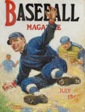 Pulp, Pulp-like, Digests, and Paperback Art, JOSEPH FRANCIS KERNAN (American, 1878-1958). Baseball Magazinecover. Oil on canvas, stretched on wood. 31 x 24 in.. Sig...
