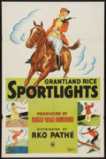 "Movie Posters:Sports, Grantland Rice Sportlights (RKO Pathe, early 1930s). Stock One Sheet (27"" X 41""). Sports.. ..."