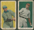 Baseball Cards:Singles (1930-1939), 1910 E93 Standard Caramel Cy Young and Rube Waddell Pair (2). ...