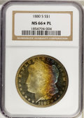 Morgan Dollars, 1880-S $1 MS66 ★ Prooflike NGC. NGC Census: (715/159). PCGSPopulation (658/126). Numism...