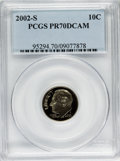 Proof Roosevelt Dimes, 2002-S 10C Clad PR70 Deep Cameo PCGS. PCGS Population (79). NGCCensus: (0). Numismedia Wsl. Price for problem free NGC/PC...