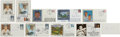 Autographs:Post Cards, Bobby Thomson Signed Lot of 13.... (Total: 13 card)