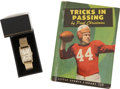 Football Collectibles:Others, 1948 NFL Western Championship Wristwatch Presented to Paul Christman....