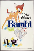 "Movie Posters:Animated, Bambi (Buena Vista, R-1982). Poster (40"" X 60""). Animated.. ..."