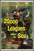 "Movie Posters:Science Fiction, 20,000 Leagues Under the Sea (Buena Vista, R-1971). One Sheet (27"" X 41"") and Lobby Card Set of 8 (11"" X 14""). Science Ficti... (Total: 9 Items)"