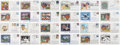 Autographs:Post Cards, Brooklyn Dodgers Single Signed Postcards and First Day Covers Lotof 44.... (Total: 44 items)