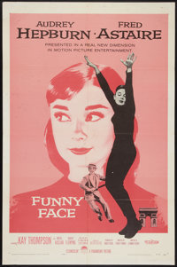 "Funny Face (Paramount, 1957). One Sheet (27"" X 41""). Romance"