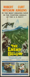 "Movie Posters:War, The Enemy Below (20th Century Fox, 1958). Insert (14"" X 36""). War....."
