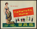 "Movie Posters:Rock and Roll, Carnival Rock (Howco, 1957). Half Sheet (22"" X 28""). Rock andRoll.. ..."