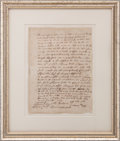 """Autographs:Statesmen, Thomas Danforth Autograph Document Signed """"Tho: Danforth"""".One page, April 2, 1659, n.p. [Massachusetts]. This is an agr..."""