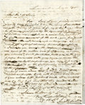 Autographs:Statesmen, [John McLean] Humphrey Marshall Autograph Letter Signed to U.S.Supreme Court Associate Justice John McLean asking permi...