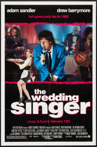 "The Wedding Singer Lot (New Line, 1998). One Sheets (2) (27"" X 41"") DS and SS Advance and Regular. Comedy..."