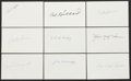 Autographs:Index Cards, Baseball Hall of Famers Signed Index Cards Lot of 9.... (Total: 9 card)