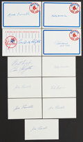 Autographs:Index Cards, Baseball Hall of Famers Signed Index Card Lot of 20.... (Total: 20 items)