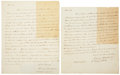 Autographs:Statesmen, Henry Baldwin Autograph Letters (2) Signed. Both letters arewritten to Stephen Barlow of Pittsburgh, Pennsylvania. (1) One ...