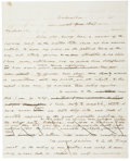"""Autographs:Statesmen, John McLean Autograph Letter Draft Unsigned. Two and one-quarterpages, 8"""" x 10"""", January 6, 1847, Washington, to """"Mr. Gal..."""