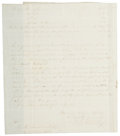 """Autographs:Military Figures, Seneca Indian Chief N. T. Strong Document Signed. Two pages, 7.5"""" x 9.5"""", September 16, 1848, Cattaraugus Reservation """"Nea..."""