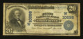 National Bank Notes:Wyoming, Green River, WY - $20 1902 Plain Back Fr. 657 First NB Ch. #(W)10698. ...