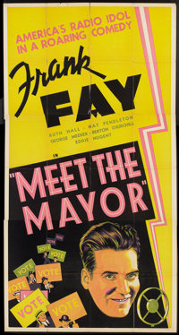 """A Fool's Advice (Times Exchange, R-1938). Three Sheet (41"""" X 81""""). Comedy. Reissue title was Meet the Mayor..."""