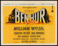 "Movie Posters:Historical Drama, Ben-Hur (MGM, 1960). Half Sheet (22"" X 28"") Academy Awards Style A.Historical Drama.. ..."