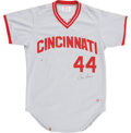 Autographs:Jerseys, 1984 Eric Davis Game Used Jersey....