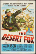"Movie Posters:War, The Desert Fox (20th Century Fox, 1951). One Sheet (27"" X 41"").War.. ..."