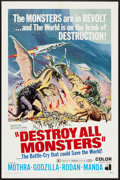 """Movie Posters:Science Fiction, Destroy All Monsters (American International, 1969). One Sheet (27""""X 41""""). Science Fiction.. ..."""