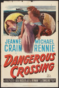 "Movie Posters:Mystery, Dangerous Crossing (20th Century Fox, 1953). One Sheet (27"" X 41"").Mystery.. ..."