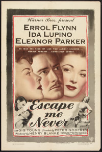 """Escape Me Never (Warner Brothers, 1948). One Sheet (27"""" X 41""""). Drama"""