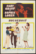 """Movie Posters:Comedy, Houseboat (Paramount, 1958). One Sheet (27"""" X 41""""). Comedy.. ..."""