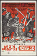 """Movie Posters:Science Fiction, War of the Gargantuas/Monster Zero Combo (UPA, 1966). One Sheet(27"""" X 41""""). Science Fiction.. ..."""