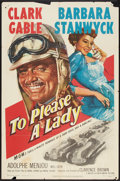 """Movie Posters:Adventure, To Please a Lady (MGM, 1950). One Sheet (27"""" X 41""""). Adventure....."""