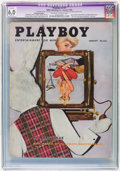 Magazines:Vintage, Playboy V3#1 Newsstand Edition (HMH Publishing, 1956) CGC Apparent FN 6.0 Slight (A) Off-white to white pages....