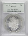 1884-O $1 MS66 Prooflike PCGS. PCGS Population (22/1). NGC Census: (17/1). Numismedia Wsl. Price for NGC/PCGS coin in MS...