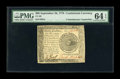 Colonial Notes:Continental Congress Issues, Continental Currency September 26, 1778 $60 ContemporaryCounterfeit PMG Choice Uncirculated 64 EPQ....
