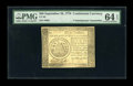 Colonial Notes:Continental Congress Issues, Continental Currency September 26, 1778 $50 ContemporaryCounterfeit PMG Choice Uncirculated 64 EPQ....