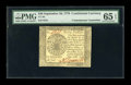 Colonial Notes:Continental Congress Issues, Continental Currency September 26, 1778 $40 ContemporaryCounterfeit PMG Gem Uncirculated 65 EPQ....