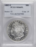 1882-S $1 MS66 Prooflike PCGS. PCGS Population (63/4). NGC Census: (159/15). Numismedia Wsl. Price for NGC/PCGS coin in...