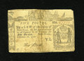 Colonial Notes:New York, New York February 16, 1771 £5 Fine....