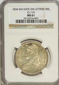 Bust Half Dollars: , 1834 50C Small Date, Small Letters MS61 NGC. O-110. PCGS Population(5/143). (#6166)...