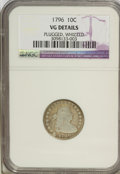 Early Dimes: , 1796 10C --Whizzed, Plugged--NGC. VG Details. Mintage: 22,135.(#4461)...
