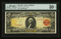 Large Size:Gold Certificates, Fr. 1180 $20 1905 Gold Certificate PMG Very Fine 30 EPQ....