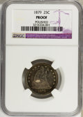 Proof Seated Quarters: , 1879 25C --Polished--NGC. Proof. NGC Census: (2/243). PCGSPopulation (11/267). Mintage: 1,100. Numismedia Wsl. Price forpr...