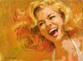 Original Comic Art:Illustrations, Arthur Sarnoff Laughing Girl Illustration Original Art (undated)....