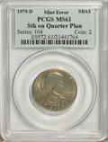 Errors, 1979-D SBA$ Anthony Dollar--Struck on a Quarter Planchet--MS61PCGS....