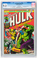 Bronze Age (1970-1979):Superhero, The Incredible Hulk #181 (Marvel, 1974) CGC NM- 9.2 White pages....