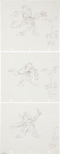 animation art:Production Drawing, Tiny Toons Adventures Animation Production Drawing OriginalArt Group (Warner Bros., undated).... (Total: 15 Items)