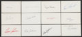 Autographs:Index Cards, New York Yankees Single-Signed Index Card Lot of 25.... (Total: 20 card)